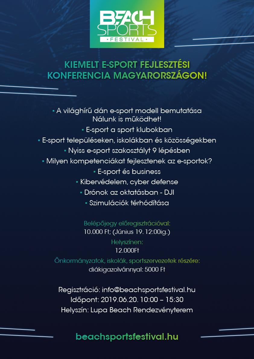 E Sport Konferencia Plakát